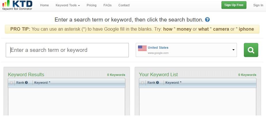 SEO tool: Keyword Tool Dominator
