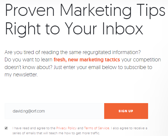 Sign up for Email Newsletters