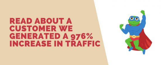 An Amazing 971% Increase in traffic